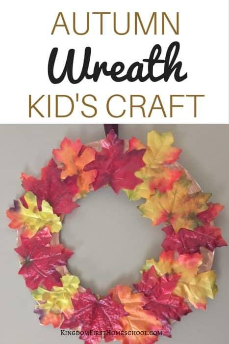 Autumn Wreath Kid's Craft