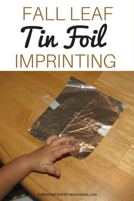 Fall Leaf Tin foil Imprinting