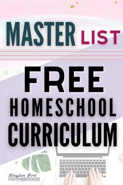 Are you looking for free homeschool curriculum? You can homeschool your kids without going into debt or stressing out about it. Did you know that you can homeschool for free? Yes there are tons of wonderful and free homeschooling curriculum options available.