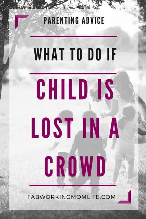 what to do if child is lost in a crowd