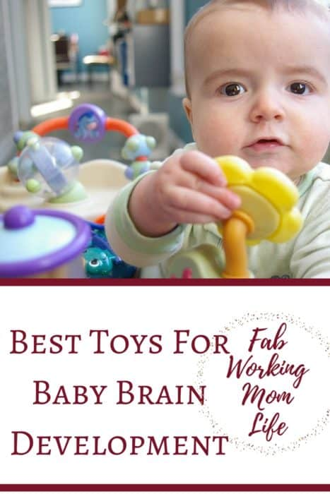 The best toys for brain development for your child will vary depending on their age. Brain toys for babies help them find new ways to develop their senses. Put these brain boosting toys for babies on your registry! Here are the best baby toys that allow the brain to develop!