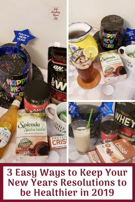 #AD  3 Easy Ways to Keep Your New Years Resolutions to be Healthier in 2019 | Fab Working Mom Life | WalmartResolutions.com #ResolutionsatWalmart #SplendaNaturals #IC #NewYearsResolutions #Goals #Resolutions