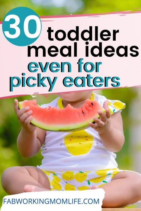 30 toddler meal ideas even for picky eaters