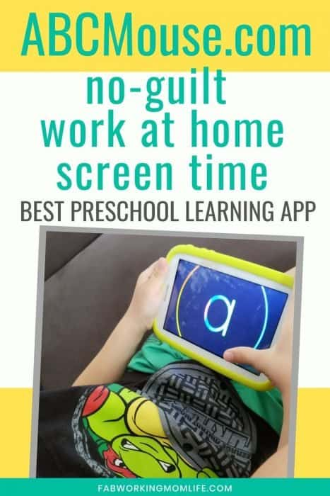 ABCmouse no guilt work at home screen time
