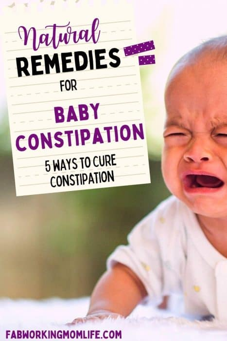 natural remedies for baby constipation