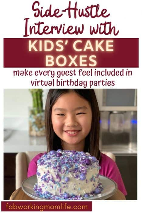 kids cake boxes for virtual birthday parties side hustle interview