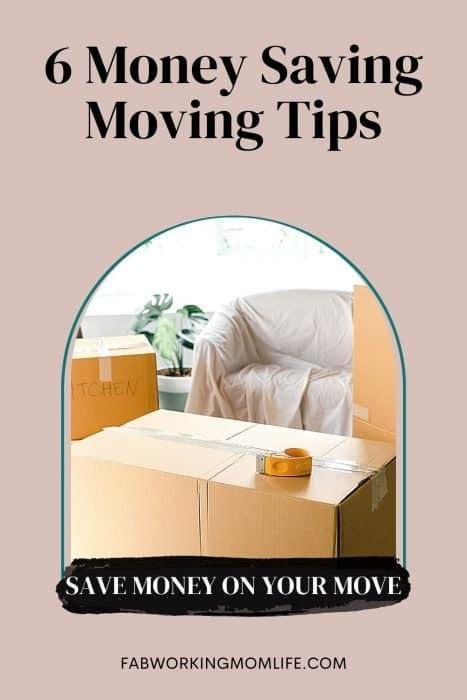 6 Money Saving Moving Tips