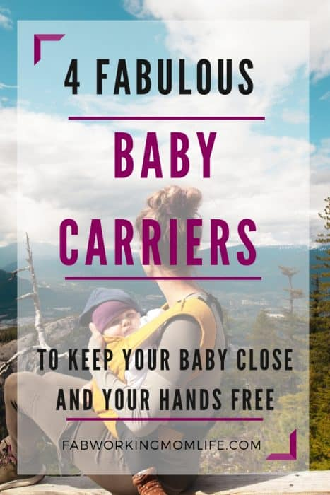 4 fabulous baby carriers to keep your baby close and your hands free