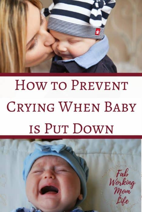 How to Prevent Crying When Baby is Put Down? If you're wondering how to make a baby stop crying, keep reading!