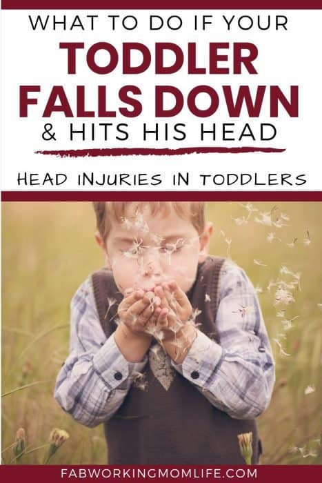 toddler falls and hits his head