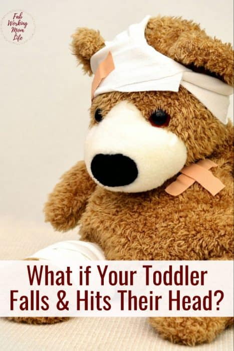 What to do if your toddler falls down and his their head? | Fab Working Mom Life #toddlers #parenting #headinjury What to do when your toddler has a head injury