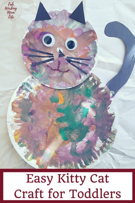 Make this easy kitty cat craft! Easy Grandparents Day Craft for Toddlers | Fab Working Mom Life