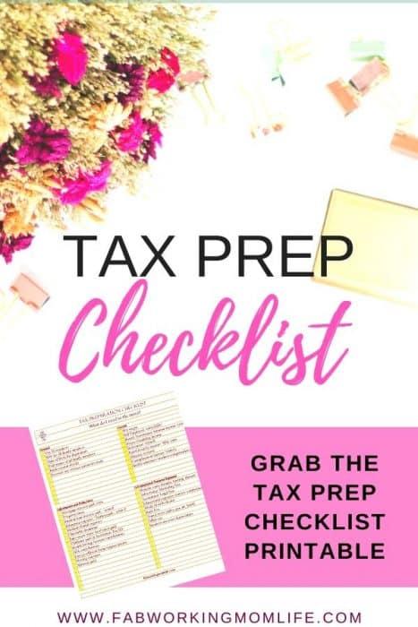 tax preparation checklist printable