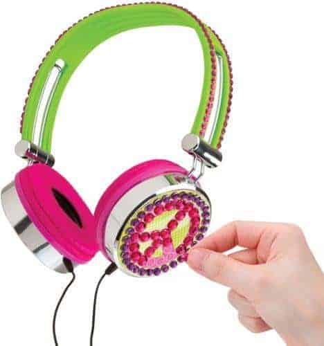 Kids can decorate and then use these headphones from alex