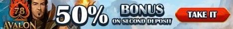 50% reload bonus on deposit