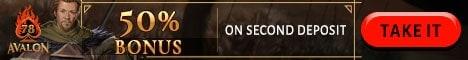 Avalon78.com 50% reload bonus