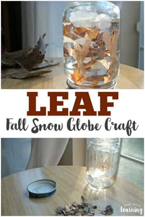 Leaf Fall Snow Globe Craft