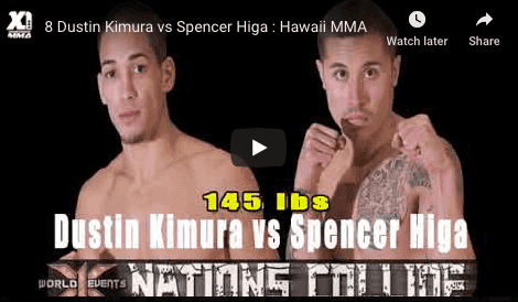8 Dustin Kimura vs Spencer Higa : Hawaii MMA