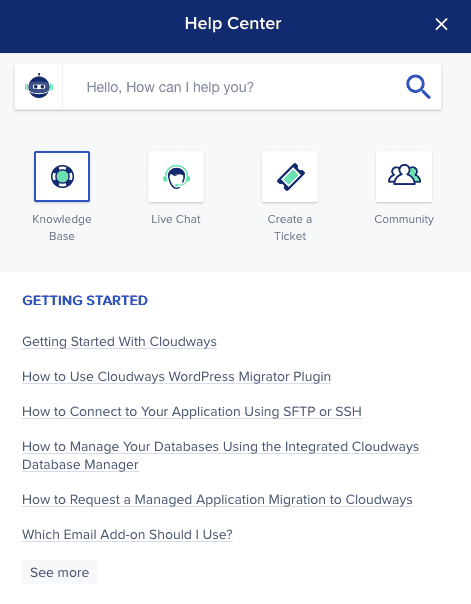 Cloudways Customer Support