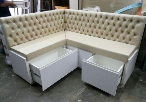 Угловой диван на кухню 014
