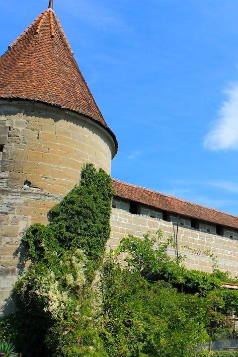 Ansicht vom Schloss in Murten