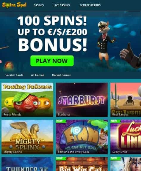 Extraspel Casino online & mobile review