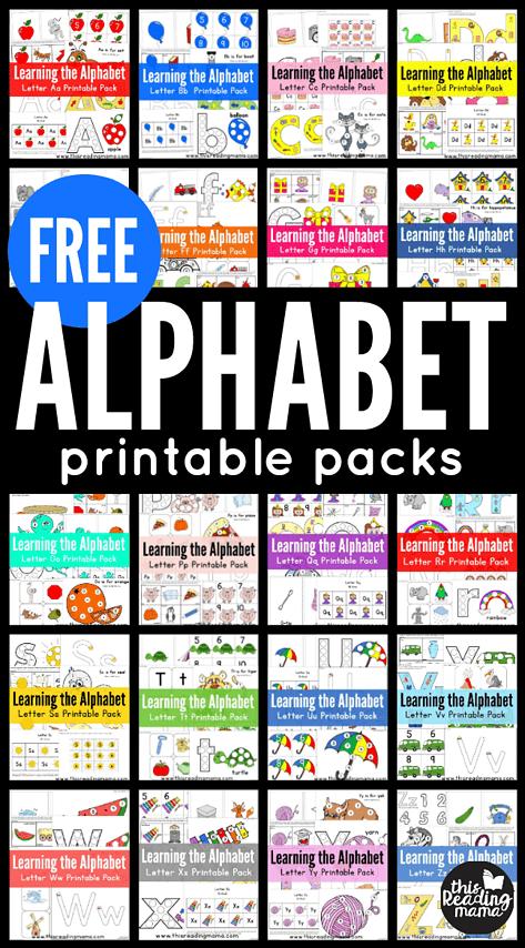 Free Alphabet printable packs
