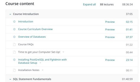 Example course content