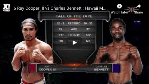 6 Ray Cooper III vs Charles Bennett : Hawaii MMA