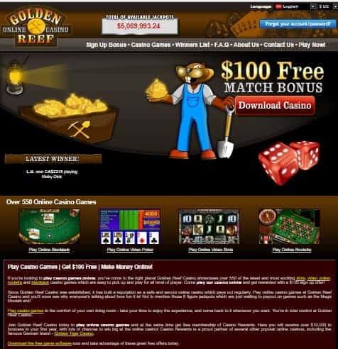 Golden Reef Casino Review
