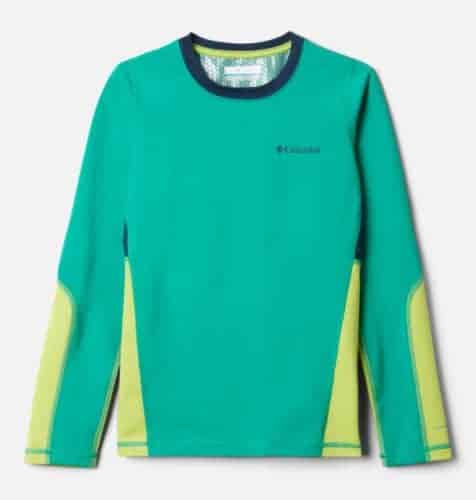 Kids can wear their columbia omniheat shirts as a fall stand-alone shirt and a winter base layers for outdoor fun.