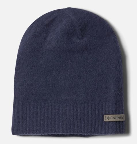The men's titanium beanie from columbia is easy to stick in your pocket for those hiking days where you might need a hat.