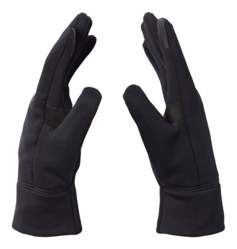 Mountain hardwear black gloves are unisex, lightweight for fall and touchscreen friendly.