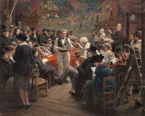 Albert Bettannier, a late 19th Century auction at the Hotel Drouot, Paris. Art Auctions.