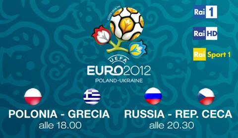 Al via Euro 2012, questa sera Polonia - Grecia e Russia - Rep. Ceca su Rai 1 e Rai HD | Digitale terrestre: Dtti.it
