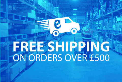 Free shipping on orders over £500