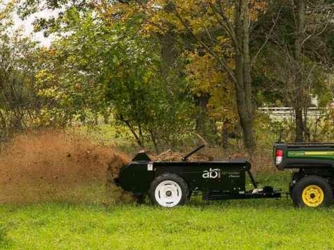 ATV and UTV ground drive small manure spreader