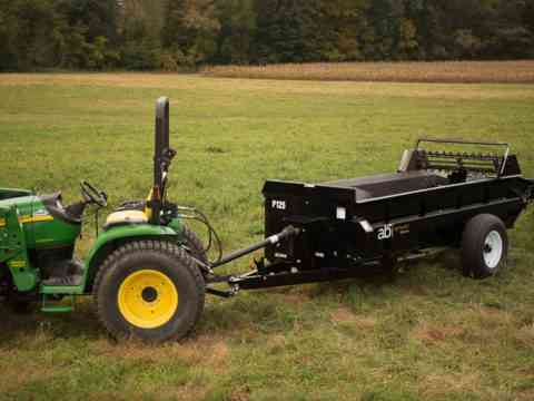 Tractor pull behind 125 PTO Manure Spreader