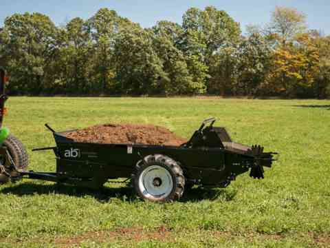Tractor Pull behind 85 Ground drive manure spreader manure management