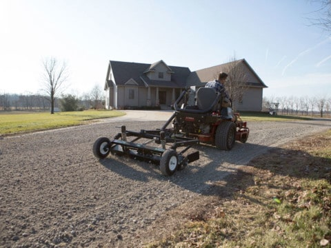 Pull Behind Gravel Grader For Lawnmowers ABI Gravel Grader For Rural Property Owners