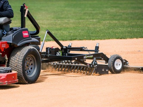 Pull Behind ABI Infield Groomer For Lawn Mowers