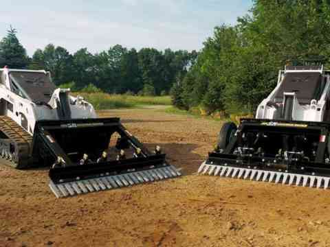 M1 and M3 Mini Skid Steer Power Rake