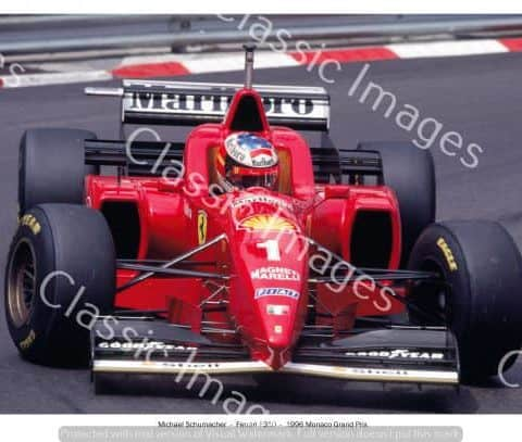Michael Schumacher - Ferrari Original Photograph 8x12in (203x305mm) in gloss finish