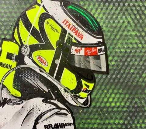Jenson Button - Graffiti painting