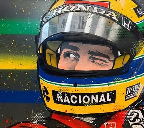 Ayrton Senna 2.0 - Graffiti painting