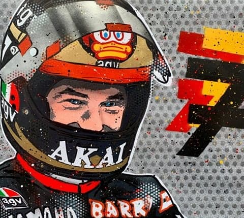 Barry Sheene - Graffiti Painting