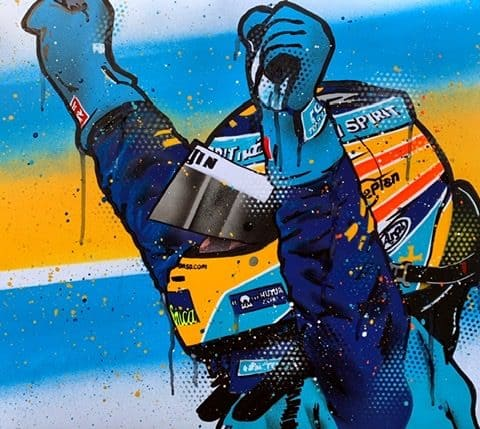 Fernando Alonso, Renault - Graffiti Painting
