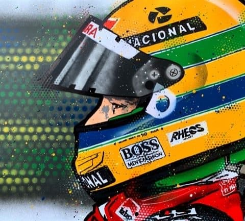 Ayrton Senna - Graffiti painting