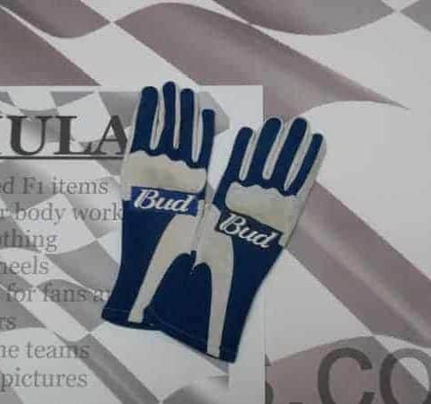 NOW SOLD -Mark Webber raced gloves from Williams