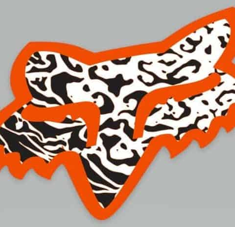 2 X Fox Racing Tattoo Design Stickers For Motor Cross Bike, Helmet, Frame, Board, Motorbike etc- High Quality Laminated Vinyl.